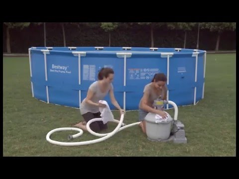 Bestway Sand Filter Pump For Above Ground Swimming Pools Youtube