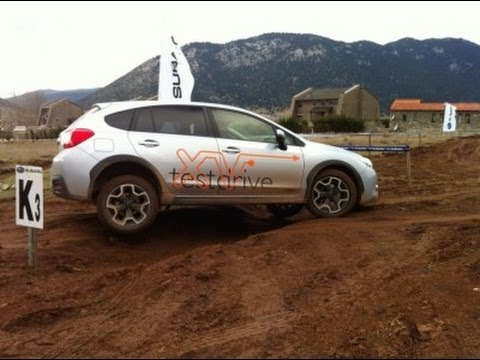 Subaru Crosstrek Off Road >> subaru xv off road test Arahova - YouTube