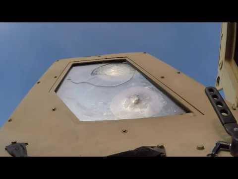 Is The MRAP Bulletproof?  Glass Impact Test