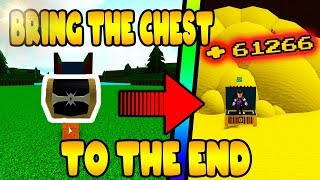 BRING SECRET CHEST TO END | Build a Boat for Treasure ROBLOX