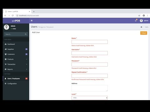 Add User Data + Form Validation Implementation [9]