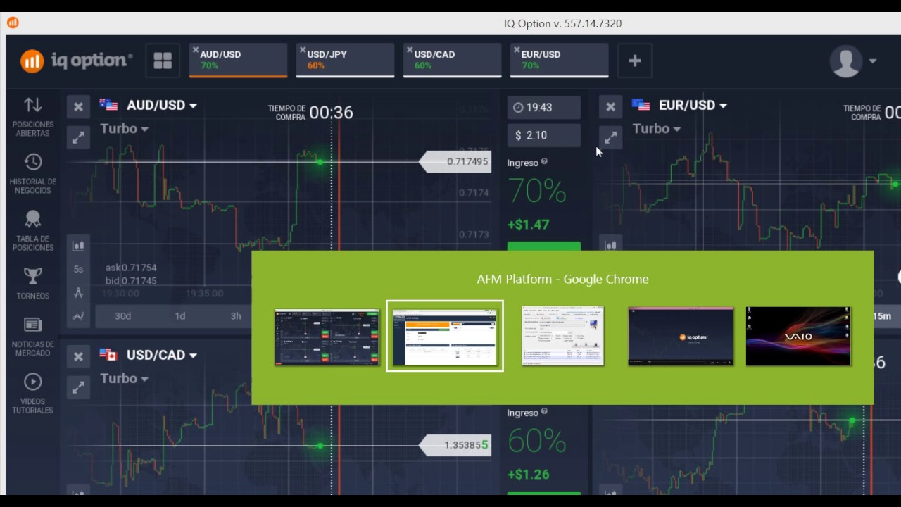 Robot opciones binarias iq option