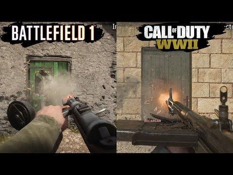 Call of Duty WWII VS Battlefield 1 | Graphics Comparison | Comparativa