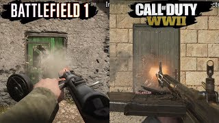 Call of Duty WWII VS Battlefield 1 | Graphics Comparison | Comparativa