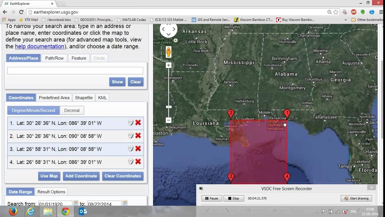 Landsat data downloading using earth explorer youtube gumiabroncs Images