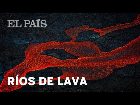Ríos de lava en el volcán Kilauea