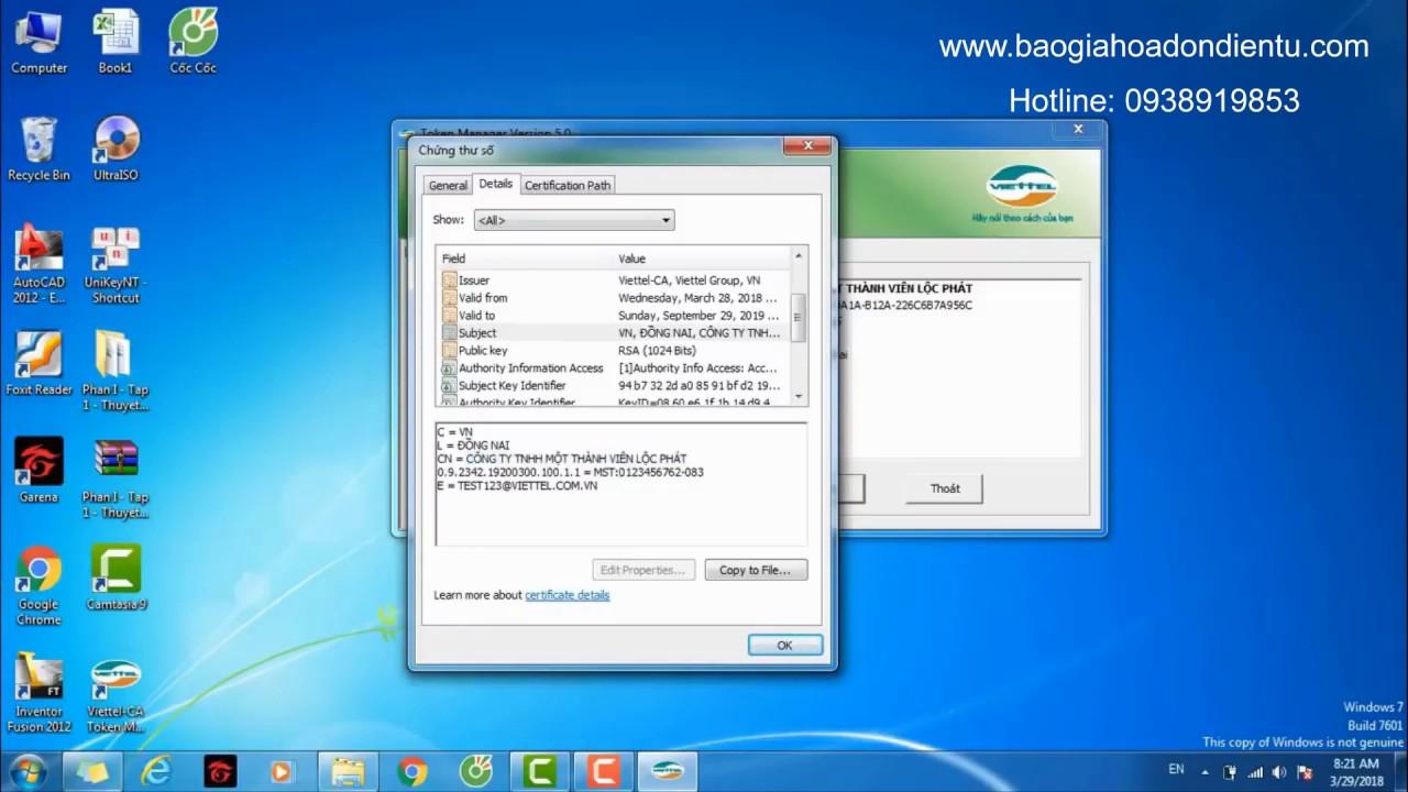 Hướng Dẫn Cách Cài Đặt Sử Dụng Chữ kÝ Số USB Token Viettel Cho Doanh Nghiệp