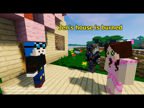 New Popularmmos Pat and Jen Minecraft: Transformation Super hero | Popularmmos New Video Animation