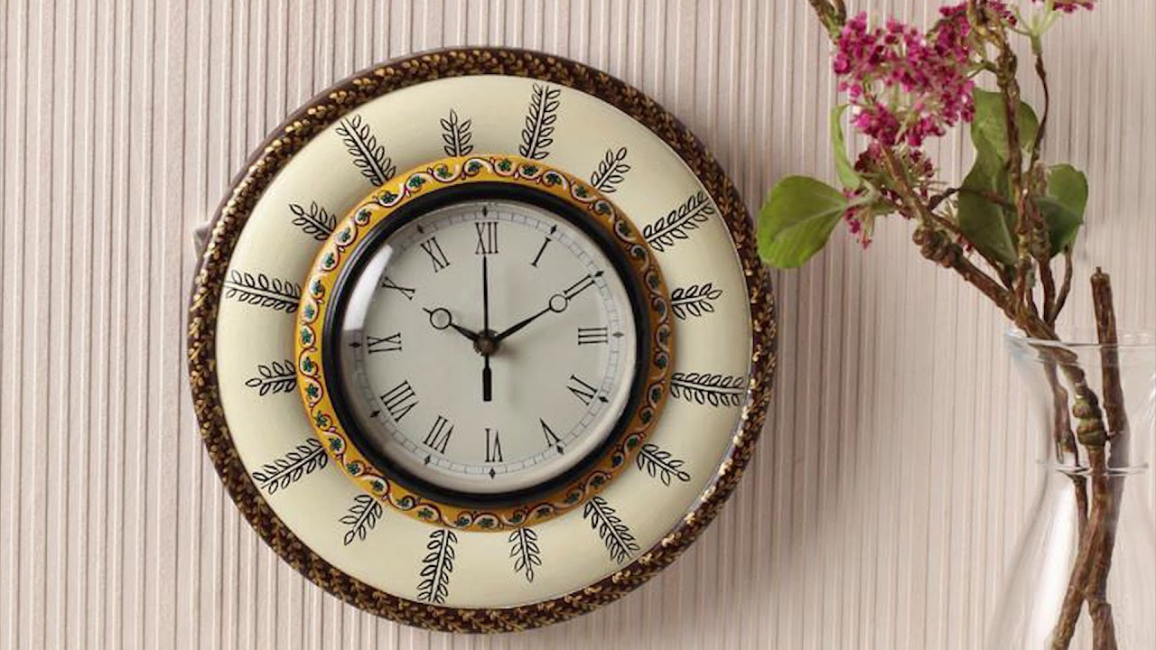 Hand Painted Mughal Wall Clock In India Online Mughal Hand Painted