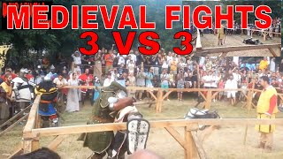 MEDIEVAL 3 on 3 FIGHT - GLOBAL MEDIEVAL FIGHT - best of fight - MEDIEVAL KNIGHTS - ARENA FIGHT - mma