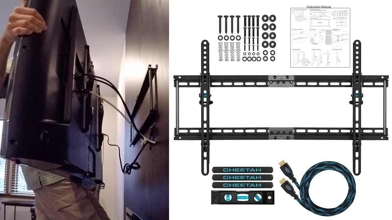 Cheetah TV Wall Mount Setup, Installation and Review - YouTube
