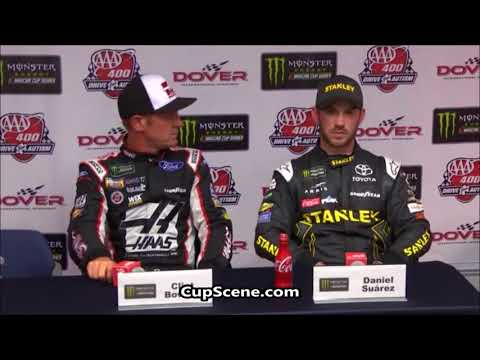 NASCAR at Dover International Speedway May 2018: Daniel Suarez, Clint Bowyer post race