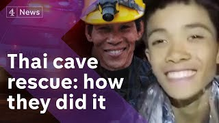 Thailand cave rescue: All boys saved - how they did it thumbnail
