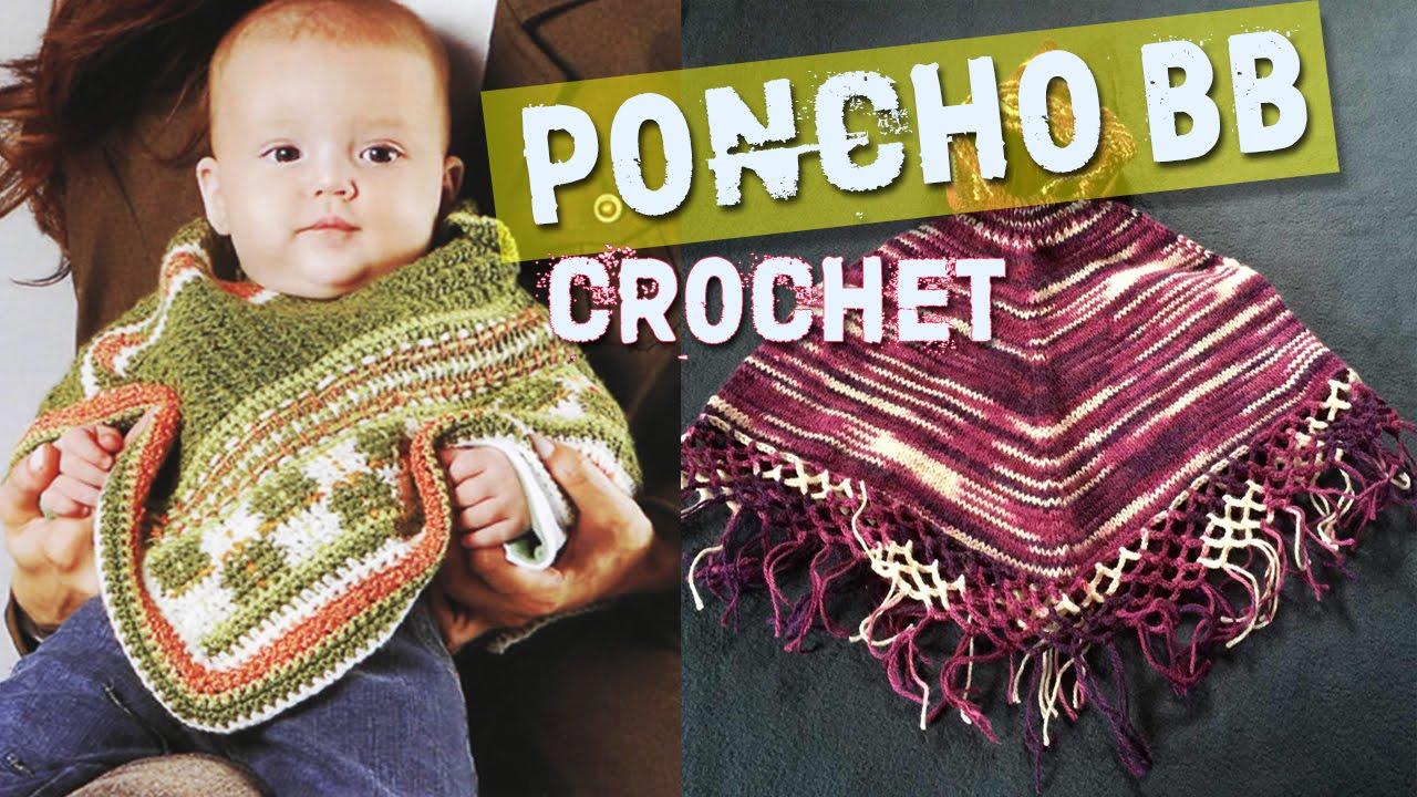 Poncho Para BeBe - Tejidos a Crochet - Dos Agujas - YouTube