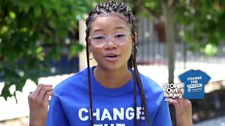 Storm Reid BLUE SHIRT DAY® WORLD DAY OF BULLYING PREVENTION™ 2017