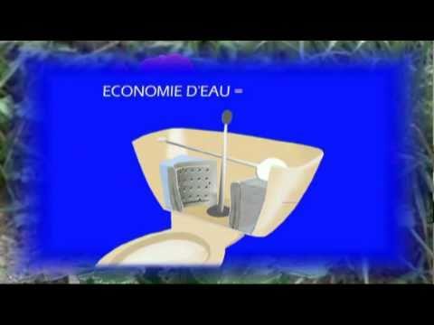 plaquettes eco wc r servoir toilettes economies d 39 eau wc youtube. Black Bedroom Furniture Sets. Home Design Ideas