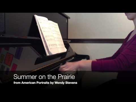 Summer on the Prairie - American Portraits for intermediate piano