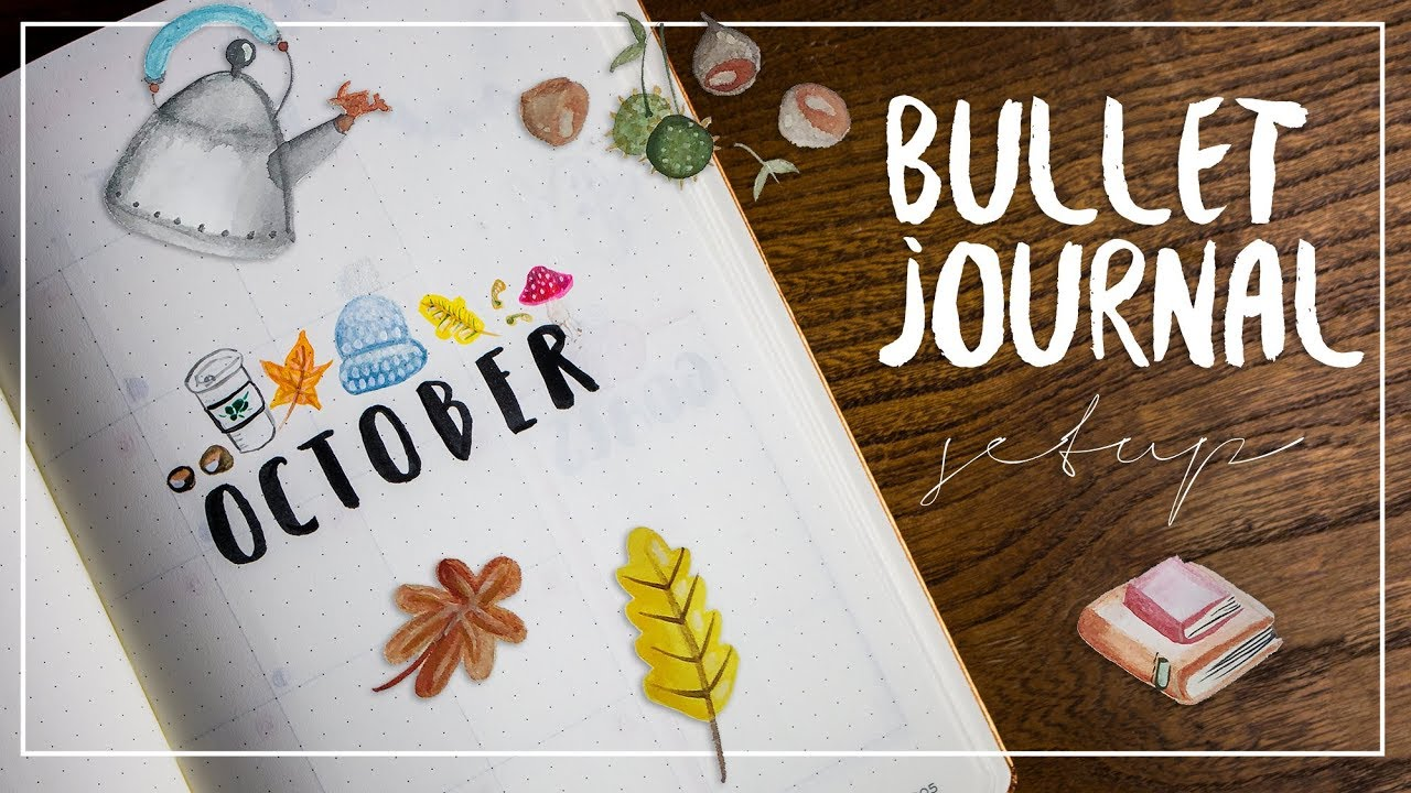 Plan With Me Bullet Journal Setup Oktober Jasminar
