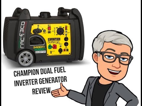 Review Of Champion 3400 Watt Dual Fuel Inverter Generator With Electric Start