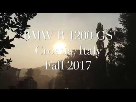 BMW R 1200 GS Croatia, Italy Fall 2017