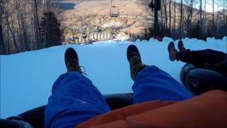 Snow Tubing - Snow Tubing Loon Mountain Incredibly Fast