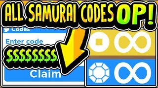 """⛩️ALL NEW SAMURAI SIMULATOR RELEASE UPDATE CODES 2019!!"" Samurai Simulator [NEW!🎉] (Roblox)"