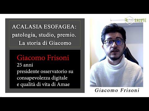 Acalasia esofagea: parla il giovanissimo Giacomo Frisoni