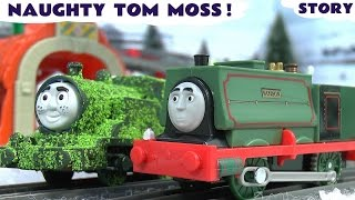thomas and friends samson naughty tom moss prank dinosaur trucks 5 in 1 toy story train sets