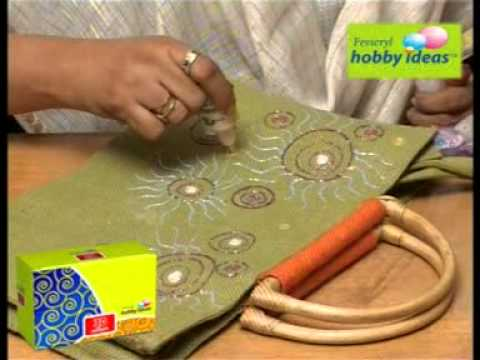Designer jute bag youtube for Crafts and hobbies ideas