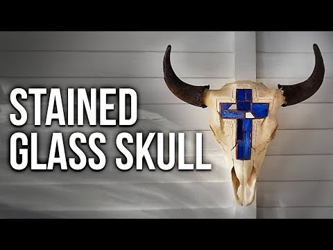Stained Glass Bison Skull Carving!