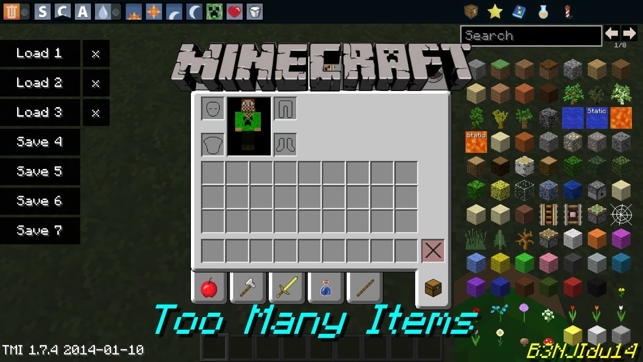 [1.4.7/1.4.6] TooManyItems Download | Minecraft Forum