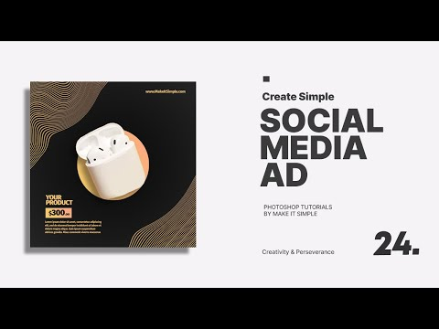 Photoshop Tutorial: Simple Social Media Ads Design #24 (FREE PSD)