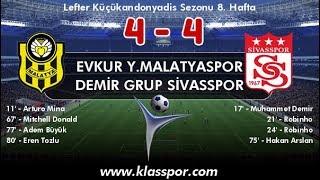 Sivasspor 4 4 Malatyaspor Maç özeti  7 Ekim 2018