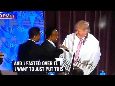 Donald Trump Receives Anointing and Prayer Shawl Great ...