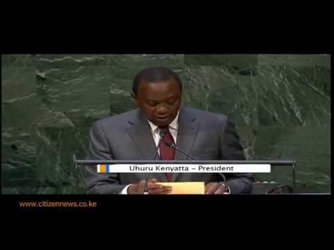 President Uhuru's Maiden Speech at UNGA