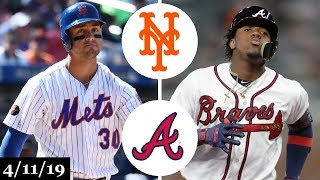 New York Mets vs Atlanta Braves Highlights | April 11, 2019
