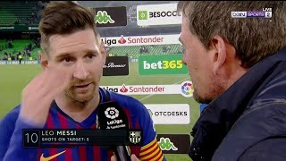 Lionel Messi post match interview