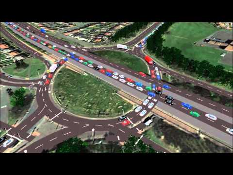 Current traffic and road layout of John Reid Road roundabout, Leam Lane and Lindisfarne roundabout