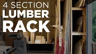 Mike Makes a 4 Section Lumber Rack