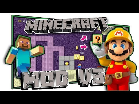 Play as Steve! Super Mario Maker Mod - Minecraft V3