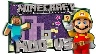 Play as Steve! Super Mario Maker Mod - Minecraft V3
