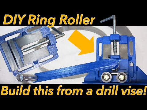 Homemade ring roller metal bender
