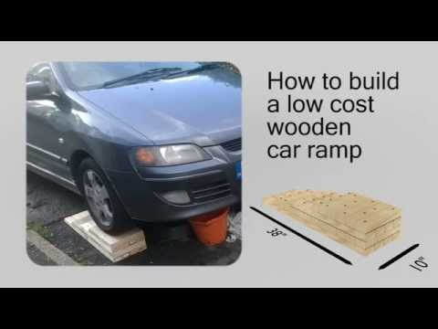 How to build a Low Cost DIY Wooden Car Ramp - Plans