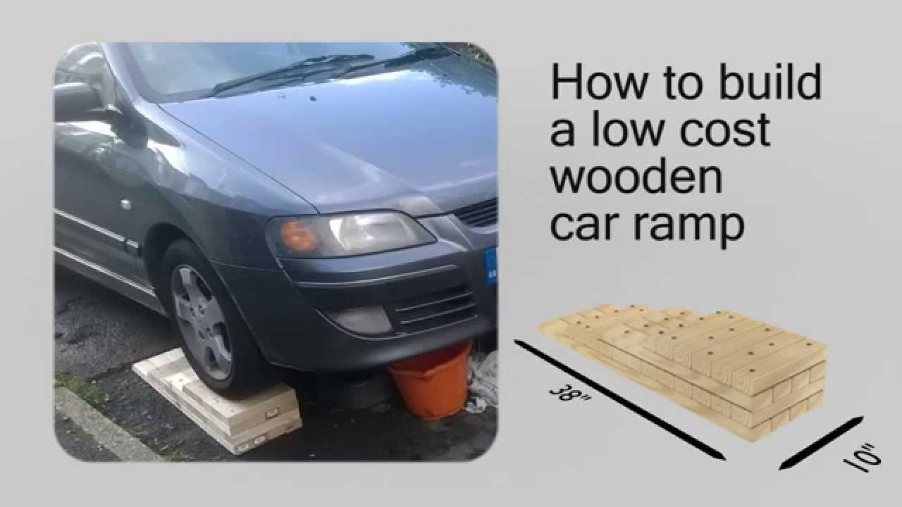 How To Build A Low Cost Diy Wooden Car Ramp Plans Youtube