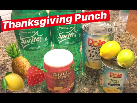 How to Make: Thanksgiving Punch