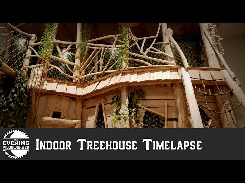 Reece - Father Builds Interior Treehouse for kids