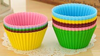 Силиконовые формы для выпечки(Round shape Silicone Muffin Cases Cake Cupcake Liner Baking Mold Диаметр: 7 см, дно: 4 см. Перед первым использованием силиконовую форму..., 2015-03-10T13:29:45.000Z)