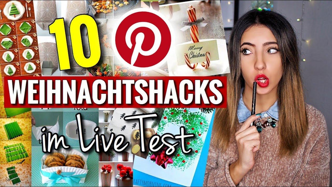 Download 10 seltsame PINTEREST Weihnachtshacks & DIYs im Live Test