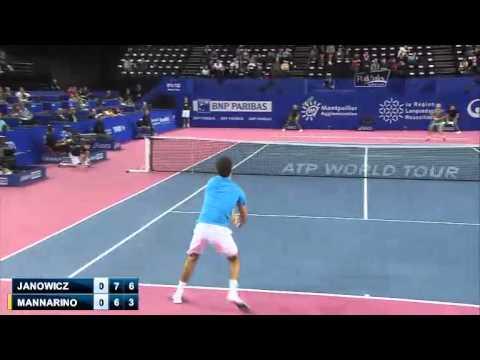 Jerzy Janowicz beats Adrian Mannarino in Montpellier (Round 2) [Includes Interview]