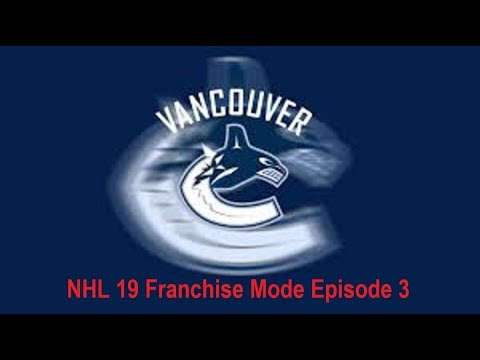 NHL 19 Vancouver Canucks franchise mode episode 3. Our first draft